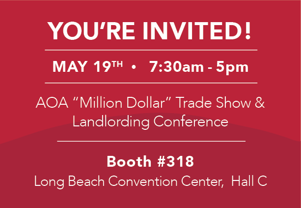 JOIN US AT THE APARTMENT OWNERS ASSOCIATION (AOA) TRADE SHOW